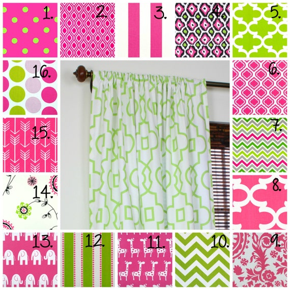 pink curtain panel set nursery curtains girl bedroom curtains little