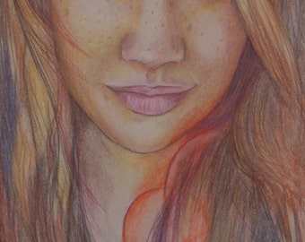 Custom Portrait drawing in Coloured Pencil