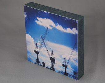 Hamburg on wood - Blue Crane