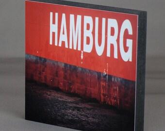 Hamburg on wood - HH Red