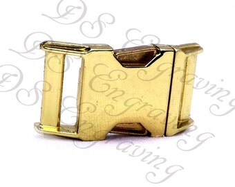 Die Cast Gold Buckles without Engraving sizes available in Five Eighths, Three Quarter, or One Inch Width