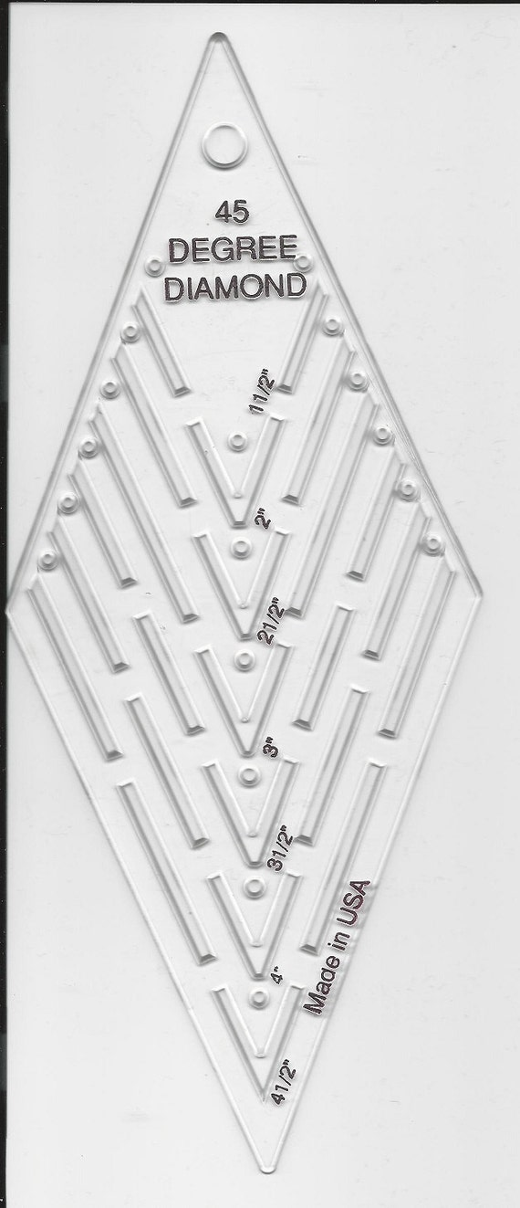 45 Degree Diamond Quilting Template Made In Usa Acrylic Stars