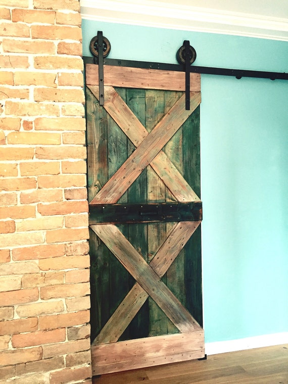 Black 6 8 Ft Rustic Sliding Barn Door Closet By Thewhiteshanty