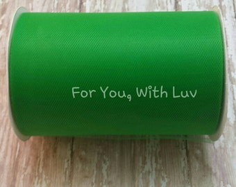 Emerald green tulle roll, 100 yards emerald green tulle spool of 6 inches wide high quality emerald green tulle fabric.