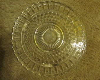 Bubble Glass Footed Cake Tray