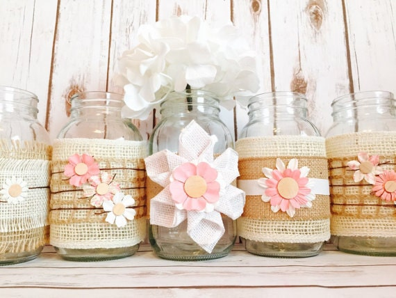 Rustic Centerpieces For Bridal Shower : Rustic bridal shower decorations by izzyanncollection
