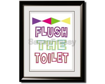reminder to flush the loo | just b.CAUSE