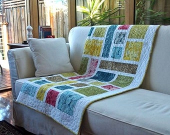 Stained Glass quilt pattern (PDF download) by Leslie @ Quilting Fabrications