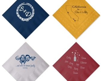 Custom Logo Design Monogram Personalized Napkins Wedding Company Business Event Party Art Work YOU name it, WE can do it!