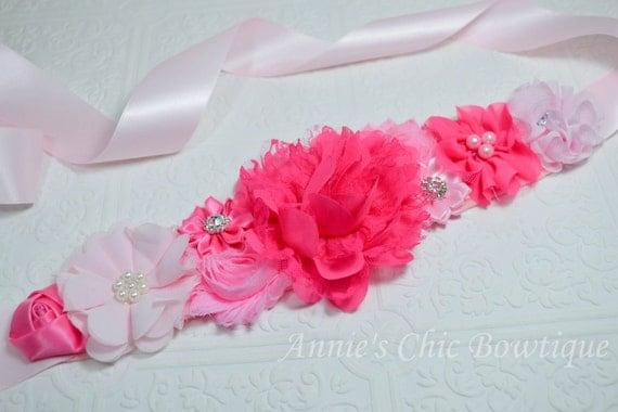 maternity sash pink baby shower sash its a girl sash maternity sash