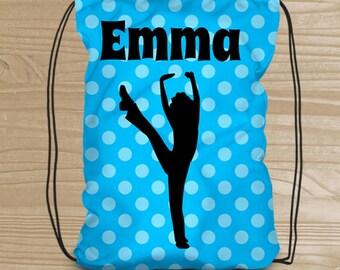 Personalized Drawstring Backpack - Dance Backpack for Girls - Jazz Dance Bag - Jazz or Tap Dance Drawstring Backpack