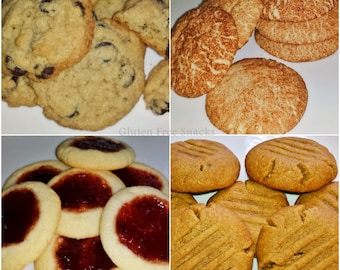 Celiac Friendly, Gluten Free, Cookie Lovers College Care Package - Goodies Grab Bag - Baked Goods