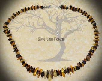 Baltic Amber Beaded Necklace - Pagan Jewellery, Wicca, Witch #3