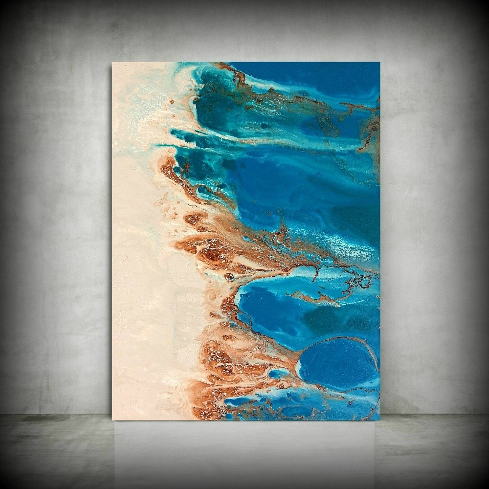Beach painting 30 x 40 abstract painting acrylic painting for Acrylic mural paint