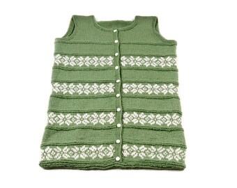 Sleeping bag for babies, sleep sack for baby, Baby Swaddle sack knit, Infant Bunting, green sleeping bag, baby comforter