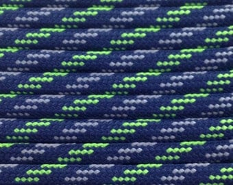 550 Paracord 100ft Seahawks 12th man Type III Commercial 7 Strand Nylon 100' rope Parachute Cord Free Shipping Survival 550 cord USA made