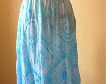 Tie Dye Women's XSmall Crochet-Lace Maxi   #109