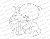 Kitten with Cupcake
