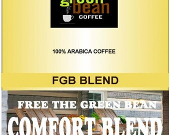 Free the Green Bean's Comfort Blend. Whole bean, Fresh roasted coffee beans. 12oz(350g)