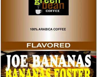 whole bean,  roasted coffee, JOE BANANAS, Bananas Foster Flavored Coffee, 12oz (350g)