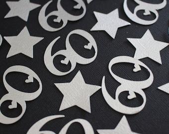 60th Confetti - Silver - Party Confetti - Confetti #2030