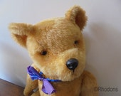 Vintage Teddy Bear Irish Pedigree 1950s Large 20