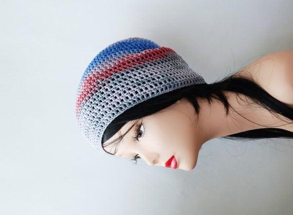 cotton summer beanie crochet hat womens hats by handmadelana