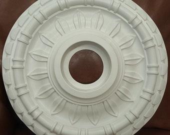 "18"" White Henta Catina Ceiling Medallion DIY Paintable ABS Plastic Modern Light Decor"