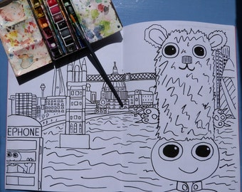 London Colouring in Book. Featuring the Dweeblings
