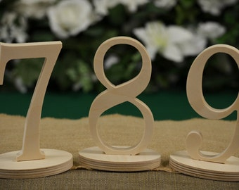 Table Numbers- Wedding Table Numbers- Wood Table Number- Weddings / Decor - Table Numbers- Table Number \ 1 to 15 set \