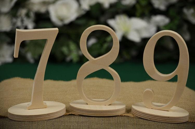 Table numbers wedding wood number