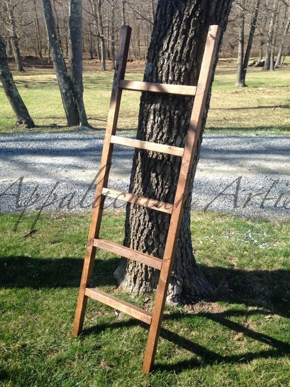 Primitive Ladder Quilt Rack