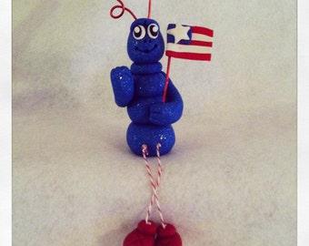 Patriotic Ant, Clay Ant, Ant Figurine
