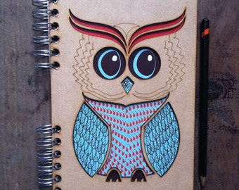 A5 recycled notebook Owl.