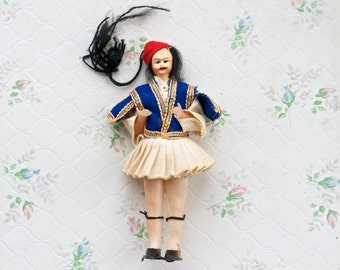 Male Doll in Traditional Greek Costume - Souvenir from Greece