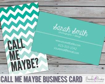 Custom Ombre Chevron Business Card {PRINTABLE} by Brooke & Birdie