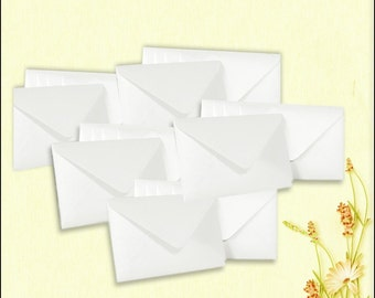 Mini Envelopes Pearlescent Shimmer Frost White Size 95mm x 133mm x 20 (BN0069)