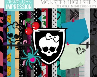 Monster High Set 2 Digital Scrapbook Kit