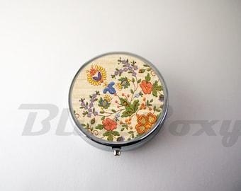 Flower Pill Case, Pill Box, Pill Holder