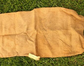 Vintage Burlap Feed Sack, Vintage Burlap Material, Feed Bag with Vintage Tag