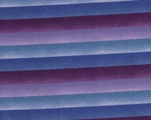 Purple Ombre Stripe Cotton Fabric / Galaxy Collection by E E Schenck Company / 1 yard