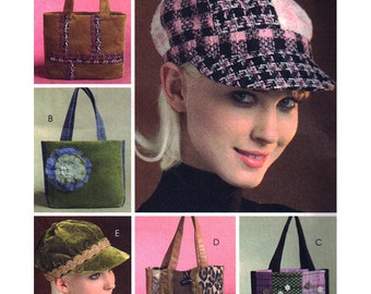McCall's M5199 Sewing Pattern - Totes and Caps  Uncut