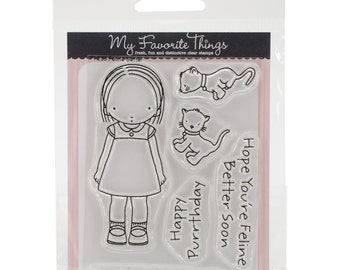 "My Favorite Things Pure Innocence Stamps 3""x4"" Sheet ~ Feline Better, PI233 ~"