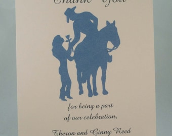 50 Thank You Cards Any Design in Our Shop for Weddings or any Occasion Customized for You