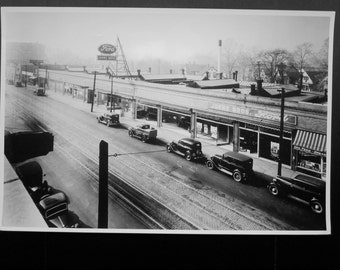 Photo/Litho Ford Dealership-1930'S (LARGE FORMAT)