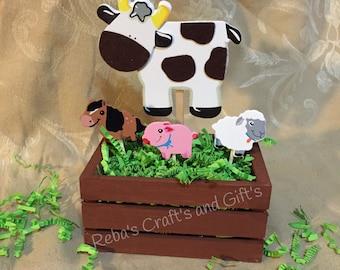 Farm Animal Centerpieces - Cow