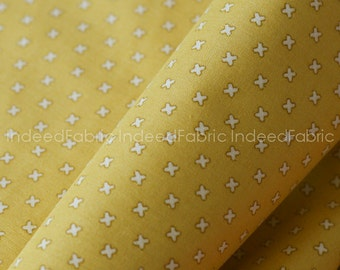 15% Off // Little X in Yellow- L's Modern Collection, Lecien Japan, Quilting-Weight Cotton