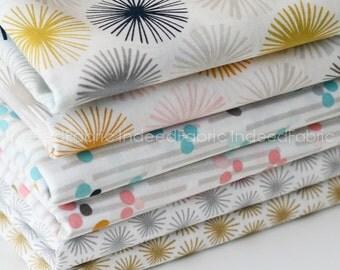 ORGANIC Aubade Bundle- Metallic Prints, Cloud 9 Fabrics, Organic Cotton Fabric, 6 Prints