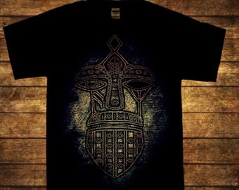 Odin Mask men's art print T shirt