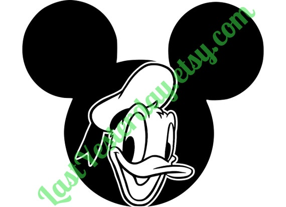 Download Donald Duck Mickey Head DIGITAL DOWNLOAD svg jpg by ...